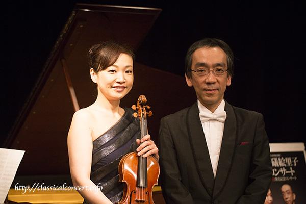礒絵里子さん(ヴァイオリニスト)と新垣隆さん(作曲家・ピアニスト)