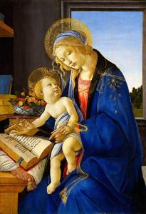 「聖母子(書物の聖母)」 1482―83年頃[テンペラ、板]ミラノ、ポルディ・ペッツォーリ美術館蔵 (© Milano, Museo Poldi Pezzoli, Foto Malcangi)